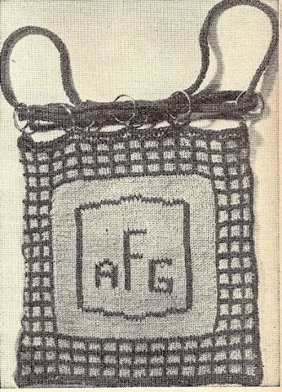 Tote Bag Knitted Pattern 1953 Vintage 726024