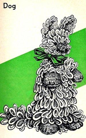 Crocheted Pekinese Dog Pattern 723040
