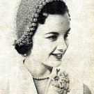 Crocheted Hat with Popcorn Edge Pattern 723041