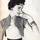 Hairpin Lace Hamaca (Shrug), 1954 Vintage Pattern 725003
