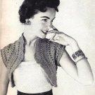 Hairpin Lace Hamaca (Shrug), 1954 Vintage Pattern 725003