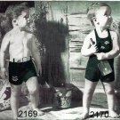 Boy's and Girl's Sun Suit Knitting Pattern Vintage 726032