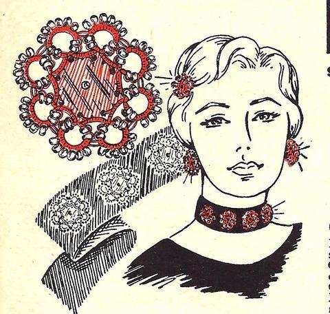 Glamorous Set in Tatting Pattern Vintage 729008