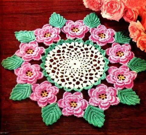 Rose Doily Crochet Pattern Vintage 723056