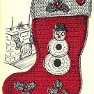 Christmas Stocking Crochet Pattern Vintage 723058