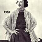 Hairpin Lace Stole Pattern Vintage 725004