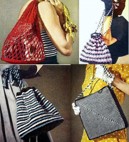 Grab a Bag - 4 Bags Crochet Patterns Vintage 723068