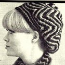 Crocheted Beret-Wear it 5 different ways Vintage 723064