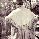 Cape Stole Knitting Pattern Vintage 726043