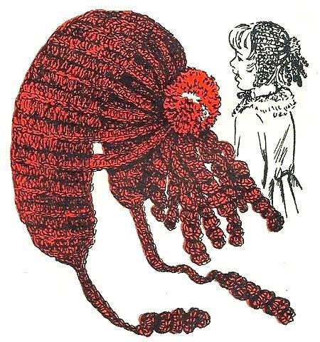 Hat Pattern in Crochet Vintage 723070