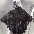 Stunning Lacy Stole - Shawl Vintage Crochet Pattern  723073