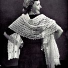 Shell Stitch Stole - Shawl Crochet Pattern Vintage 723077