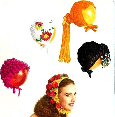 Chi Chi Bonnet Knitted Pattern 726048