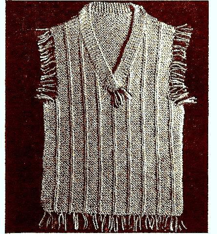 Sweater Shell Knitting Pattern Vintage 726052