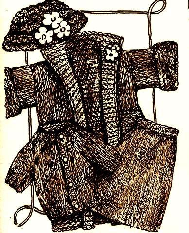 Fashion Doll Ensemble Knitting 4 Patterns Vintage 726053