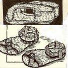 Infant Crochet Sandals 2 Patterns Vintage 723003