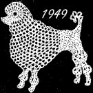 Poodle Applique Crochet Pattern Vintage 723023