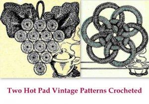 Bottle Cap and Jar Ring Hot Pads Crochet Patterns Vintage 723083