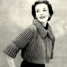 Must Have Sweater Jacket Knitting Pattern Vintage 726064