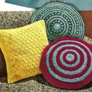 Three Crocheted Pillows Pattern Vintage 723080