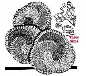 Hot Dish Mat Set Crochet Pattern 3 Sizes 723095