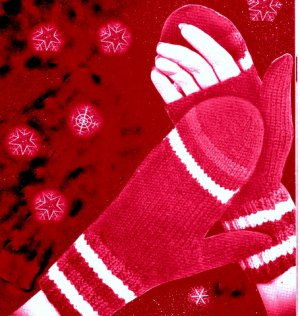 Womens Open Palm Mittens Fingerless gloves Knitting Pattern 726066
