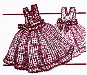 Pinafore Dish Cloth Crochet Pattern Vintage 723069
