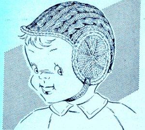 Boy Baby's Helmet Knitting Pattern 726016