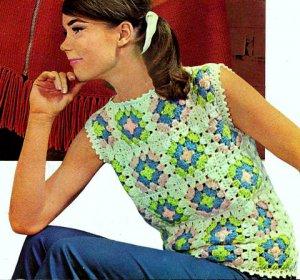 Granny Square Shell Crochet Pattern 723146