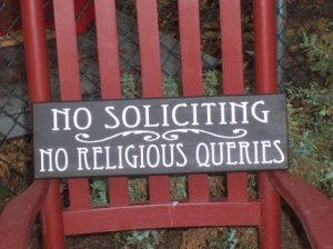 Primitive French Country Wood Vinyl Sign -Custom Made  No Soliciting Sign