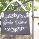 Victorian French Country Shabby Garden Entrance Weclome Wood Vinyl Home Decor Accent Sign