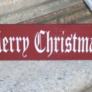 Merry Christmas Wood Vinyl Lettering Sign - Holiday Home Decor