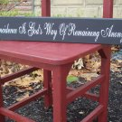 Coincidence French Country Shabby Wood Vinyl Sign