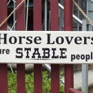 Horse Lovers Stable Are Stable People Wood Vinyl Sign - Western Shabby Cottage Shop Home Decor
