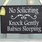 No Soliciting Knock Gently Babies Sleeping - Wreath Door Hanger Home Decor