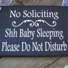 No Soliciting Baby Sleeping Please Do Not Disturb Wood Vinyl Sign - Home Decor Outdoor Wreath