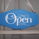 Beach Cottage Chic Style Shop Open Close Store Hours Scalloped Wood Vinyl Sign - Large