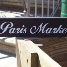 Shabby Cottage Chic Paris Market Wood Vinyl Block Shelf Sitter Home Decor Sign
