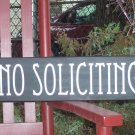 Art Deco Contemporary Large Custom Wood Vinyl Sign - No Soliciting