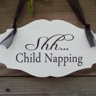 Shh Child Napping Wood Vinyl Sign With Whimsical Style All Its Own