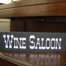 Wine Saloon Wood Vinyl Sign Country Western Bar Wall Shelf Home Decor