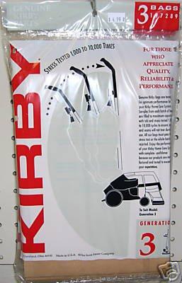 3 Genuine Kirby G3-G6 Sentria Ultimate G Vacuum Bags + Belt