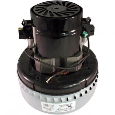 New Genuine Ametek Lamb 2 Stage Peripheral Bypass Vacuum / Blower Motor 116336-01