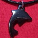 Hemalyke Jumping Dolphin Pendant Cotton Necklace