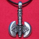 Pewter Decorated Viking - Celtic Axe Pendant Necklace