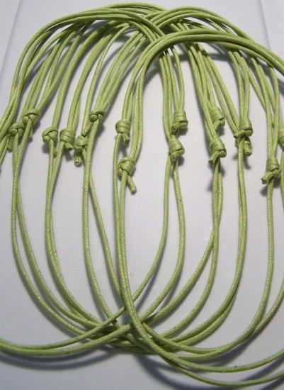 10 Pale Green Cotton Cord Necklaces No Pendants