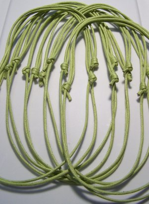 50 Pale Green Cotton Cord Necklaces No Pendants
