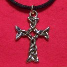 Antiqued Gold Tone Pewter Celtic Knot Cross Pendant U.S.A.