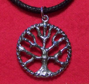 Antiqued Silver Plated Pewter Tree of Life Pendant Necklace