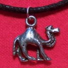 Antiqued Pewter African Desert Camel Pendant Necklace